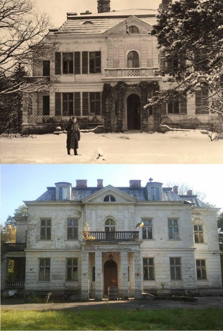 1.Pałac w Wiązownie (1943-44? / 2012 r.), foto arch. i współczesne: Paweł
