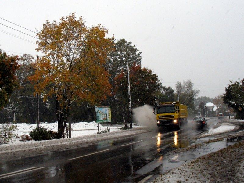 Atak zimy jesienią