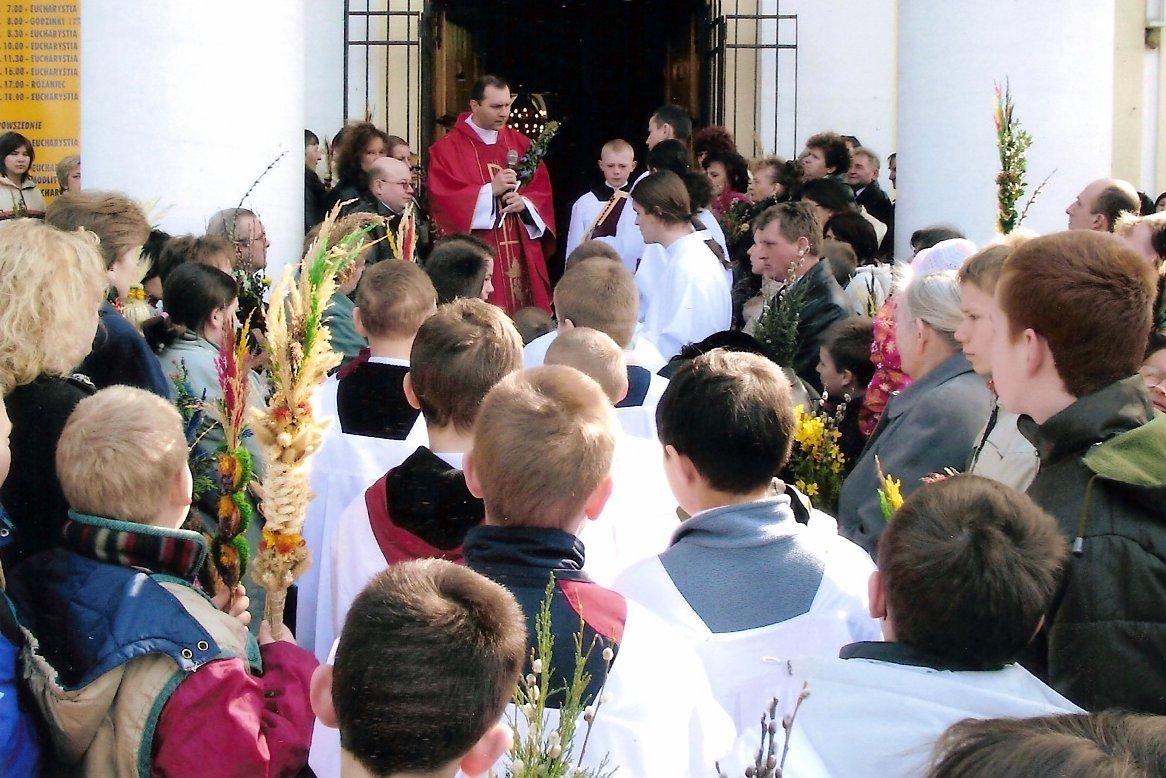 Niedziela Palmowa w Wiązownie w 2006 roku, foto: RS
