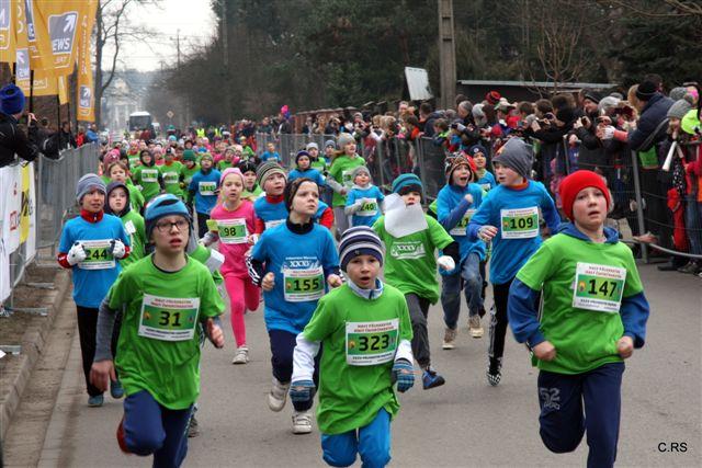 Biegi młodzieżowe, w ramach XXXV Półmaratonu Wiązowskiego, 1.03.2015, foto: RS