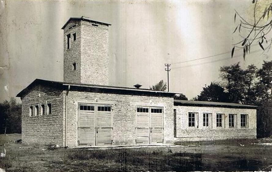 Budynek straży, lata 60-te, źródło: Kronika OSP Wiązowna