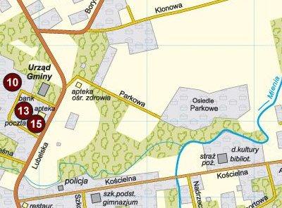 Osiedle Parkowe, mapa: UG Wiązowna