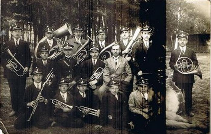 Orkiestra OSP Wiązowna w 1933 r., źródło: Kronika OSP Wiązowna