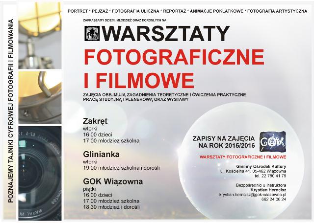 Warsztaty filmowe i fotograficzne