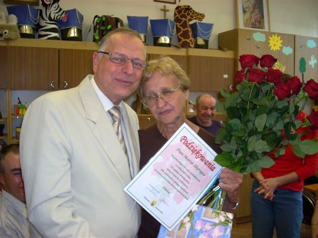 Pamiątkowe zdjęcie, pani Marta z Wójtem M. Jędrzejczakiem