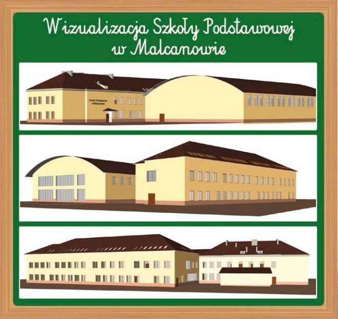 Wizualizacja szkoły w Malcanowie