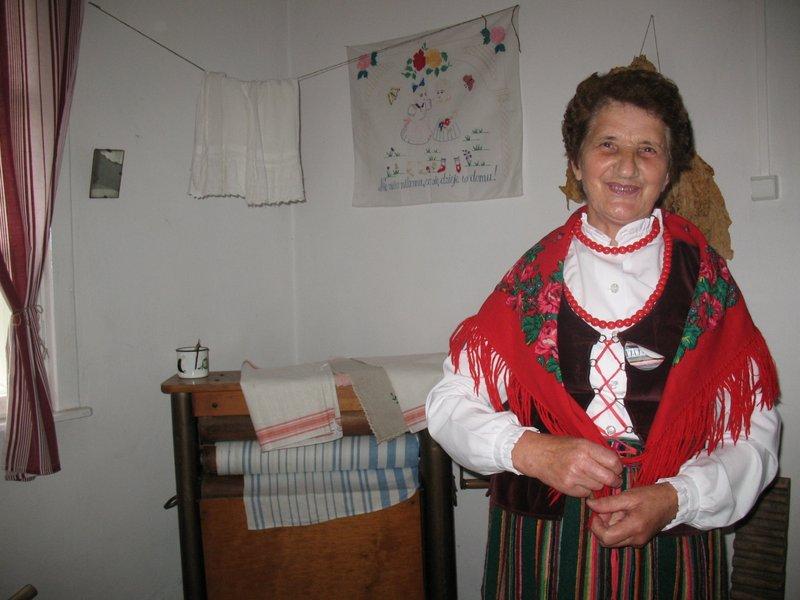 Pani Marysia Grzenda w stroju kołbielskim, 2014, foto: RS