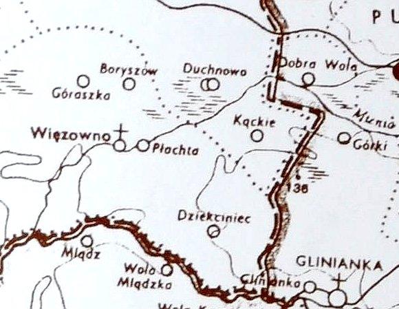 II połowa XVI w., wg Atlasu Historycznego Polski, pod red. W. Pałuckiego, Warszawa 1973