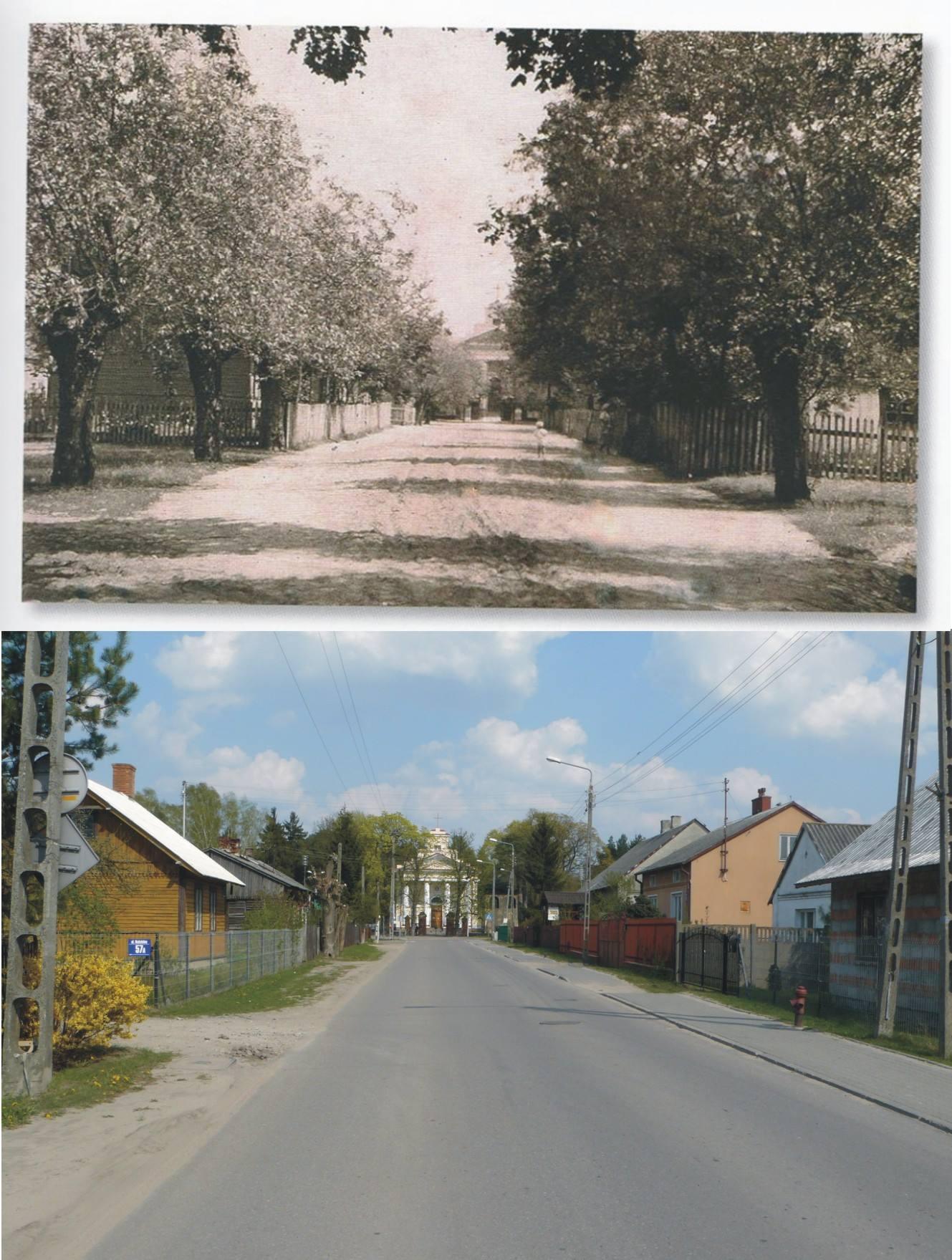 2.ul. Kościelna, foto arch. : Album Ryszarda Szczęsnego, foto współczesne: Paweł