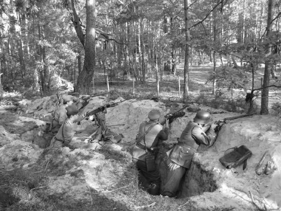 Rekonstrukcja rowu strzeleckiego z poprzecznicą