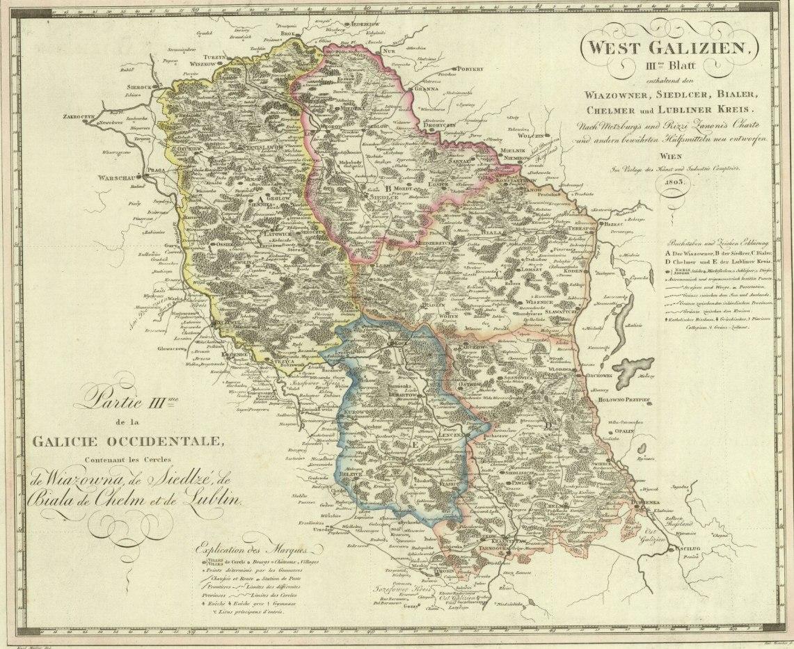 Zachodnia Galicja - podział administracyjny