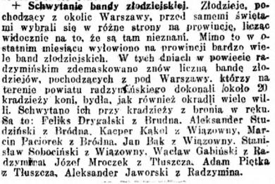 Kurjer Warszawski nr 103, 14 kwietnia 1922 roku