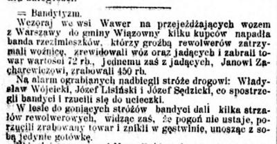 Kurjer Warszawski, nr 115, 27 kwietnia 1907 roku