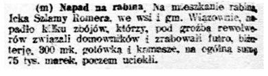 Robotnik nr 21, 22 stycznia 1921 roku