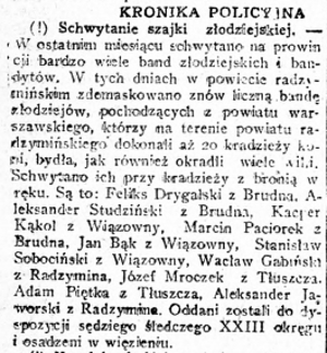 Rzeczpospolita nr 103, 14 kwietnia 1922 roku