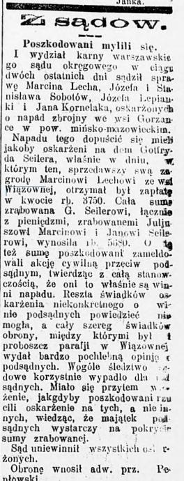 Kurjer Poranny nr 32, 1 lutego 1910 roku