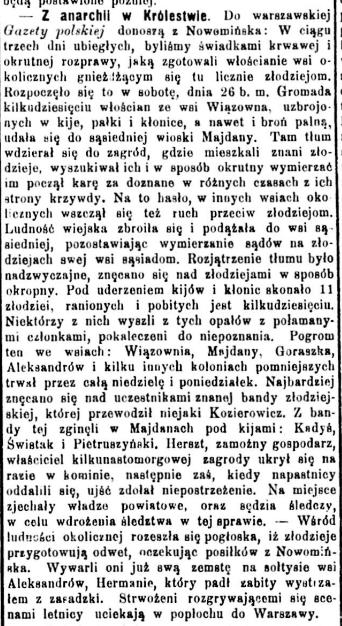 Czas, nr 198, 31 sierpnia 1905 r.