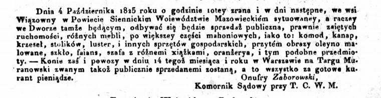 Gazeta Warszawska 1825, nr 157 (1 października)