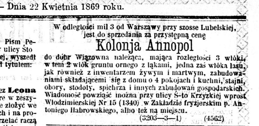 Kurier Codzienny, nr 87, 22 kwietnia 1869