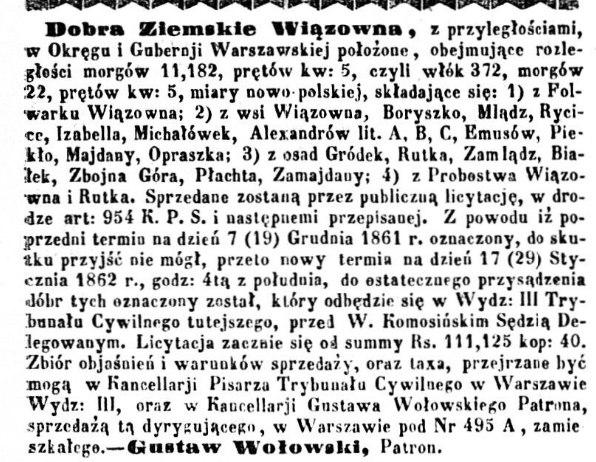 Kurjer Warszawski. R.42, nr 10 (15 stycznia 1862)