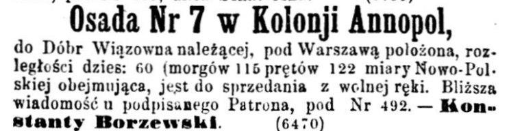 Kurjer Warszawski. R.46 [i.e. 47], nr 105 (10 maja 1867)_annopol
