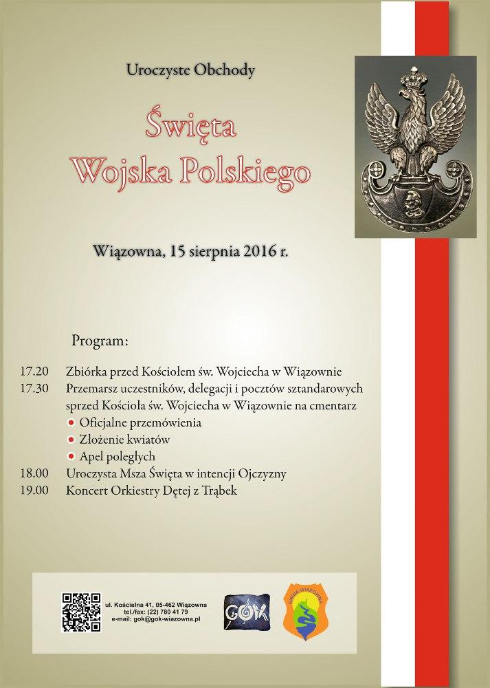 Dzień Wojska Polskiego - zaproszenie