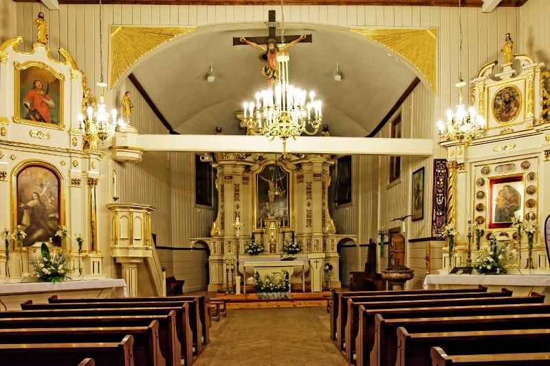 Wnętrze kościoła p.w. św. Wawrzyńca w Gliniance, foto: R.Koziarski
